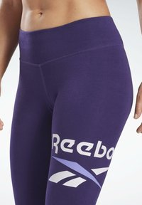 Reebok - COTTON ELEMENTS WORKOUT LEGGINGS - Leggings - purple - 3