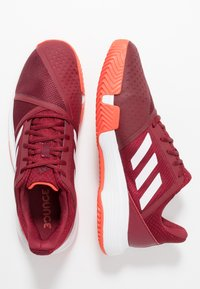 adidas Performance - COURTJAM BOUNCE CLAY - Clay court tennis shoes - collegiate burgundy/footwear white/active orange - 1
