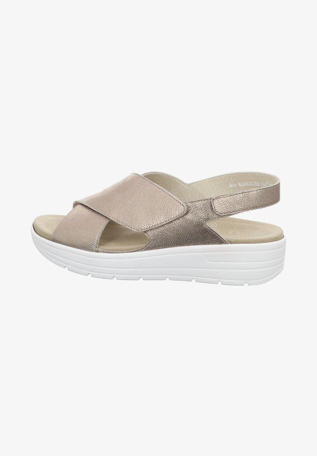 GRETA - Platform sandals - glory fango