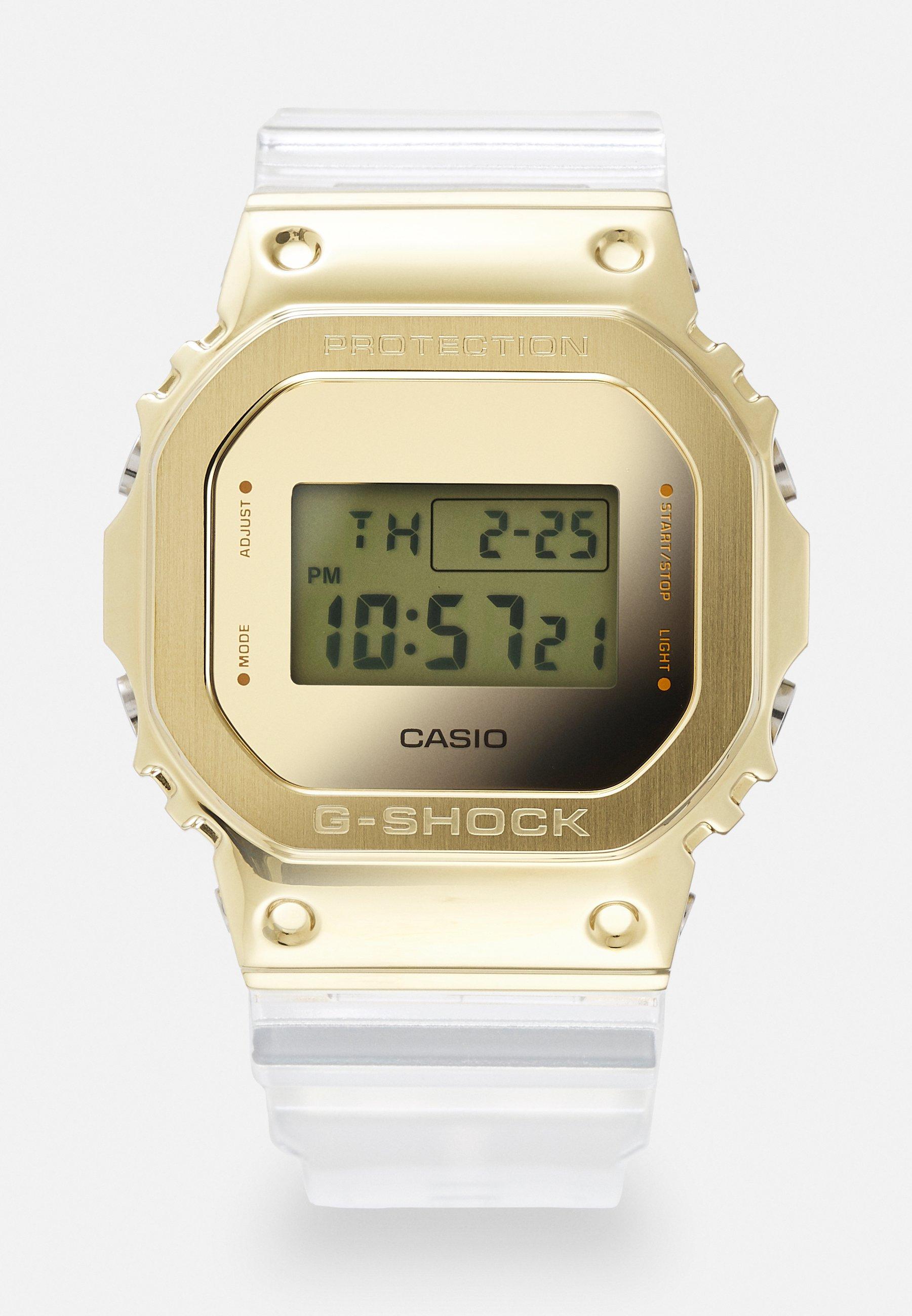 Homme GOLD-INGOT TRANSPARENT GM-5600SG UNISEX - Montre à affichage digital