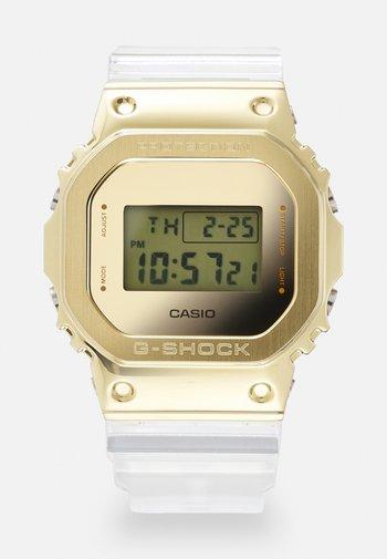 GOLD-INGOT TRANSPARENT GM-5600SG UNISEX - Digital watch - gold-coloured /transparent