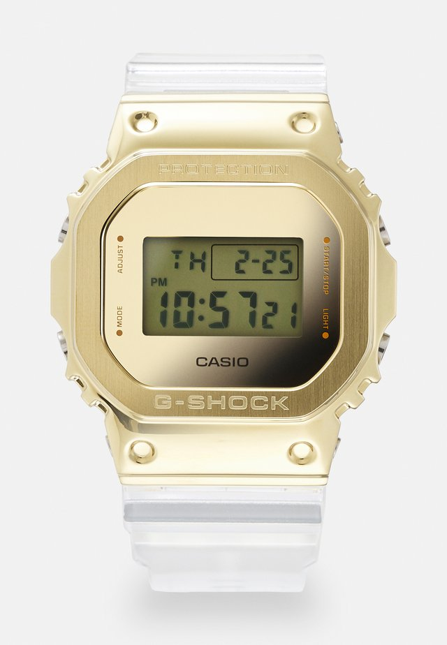 GOLD-INGOT TRANSPARENT GM-5600SG UNISEX - Montre à affichage digital - gold-coloured /transparent