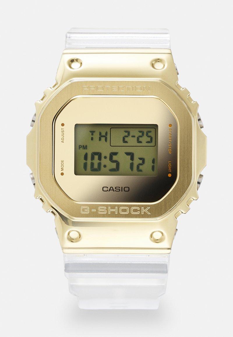 G-SHOCK - GOLD-INGOT TRANSPARENT GM-5600SG UNISEX - Digital watch - gold-coloured /transparent