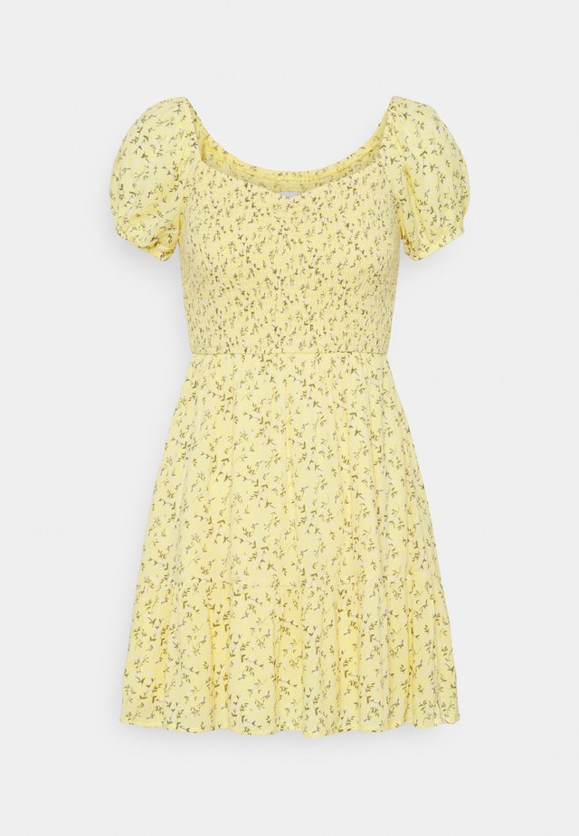 SHORT DRESS - Vardagsklänning - yellow