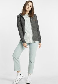 Oxmo - CELIA - Zip-up sweatshirt - black - 1