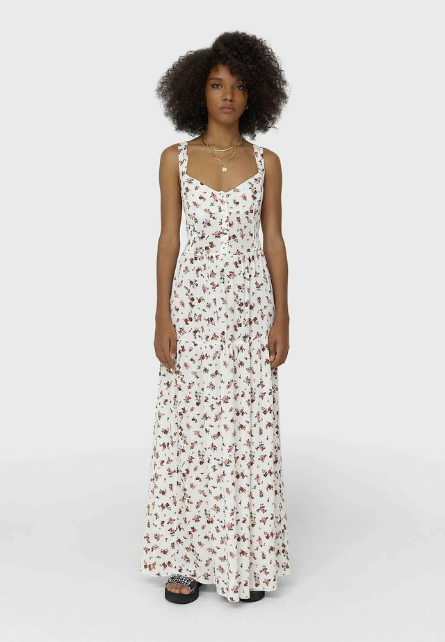 MIT BLUMENPRINT  - Długa sukienka - white