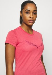 Salewa - SOLID TEE - Print T-shirt - virtual pink melange - 3