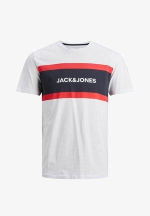 SHAKE TEE CREW NECK - Print T-shirt - white