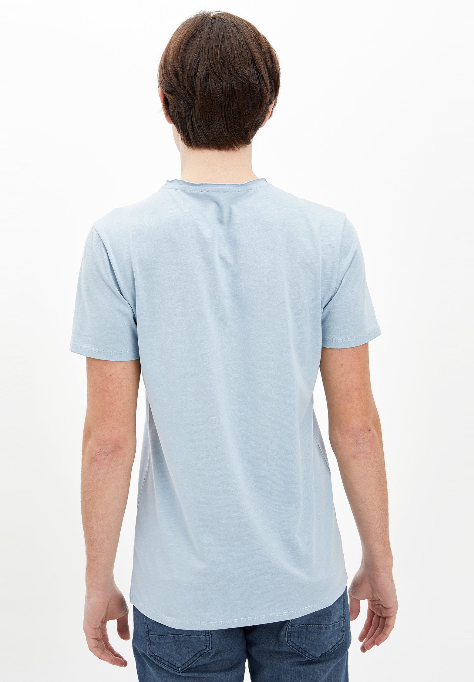 DeFacto Basic T-shirt - blue Ob5gz