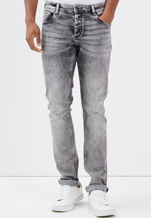 Jeans slim fit - denim gris