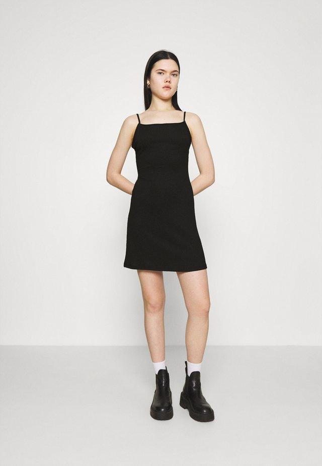 CROSSED BACK DRESS - Robe d'été - black