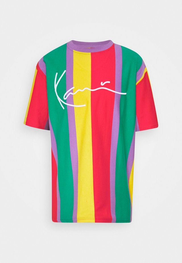 SIGNATURE STRIPE TEE UNISEX - Print T-shirt - purple