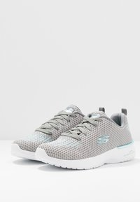 Skechers Sport - SKECH-AIR DYNAMIGHT - Zapatillas - gray/aqua/white - 4