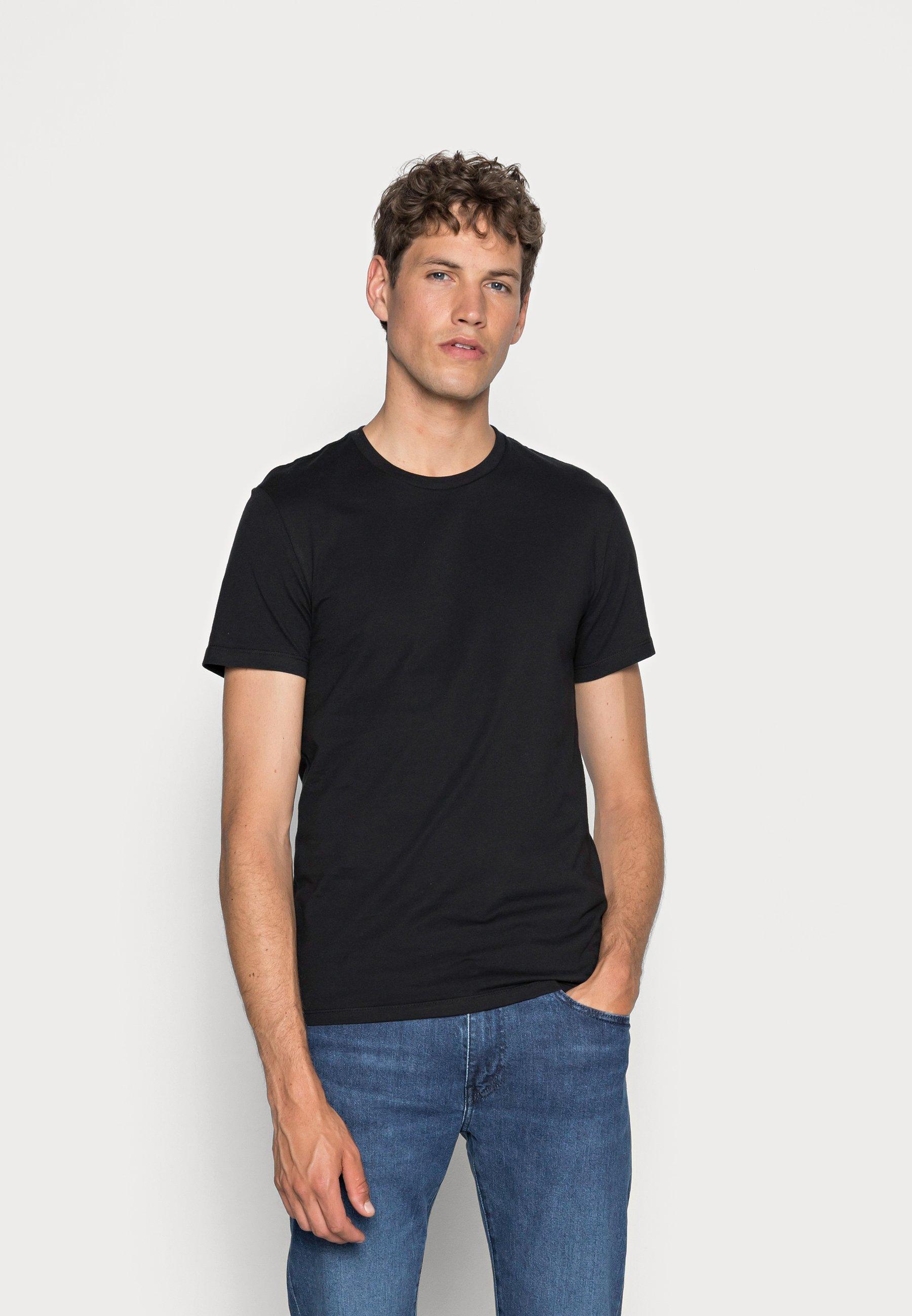Homme SLIM CREWNECK 2 PACK - T-shirt basique - black