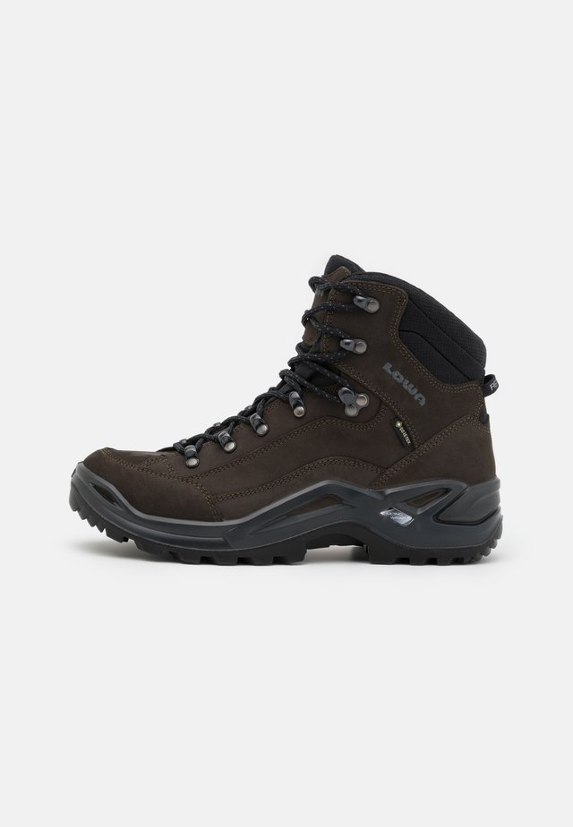 RENEGADE GTX MID - Hiking shoes - dunkelbraun/schwarz