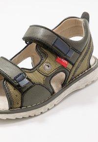 Kickers - PEPPER - Walking sandals - kaki/marine - 2