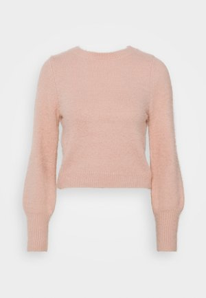 EYELASH BACK DETAIL JUMPER - Trui - blush