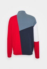 Tommy Jeans - RETRO COLORBLOCK MOCK NECK - Sweatshirt - twilight navy / multi - 1
