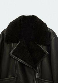 Massimo Dutti - Leather jacket - black - 4