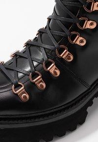 Grenson - NANETTE - Platform ankle boots - black colorado - 2