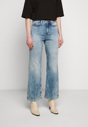 SWEEP - Flared Jeans - blue denim