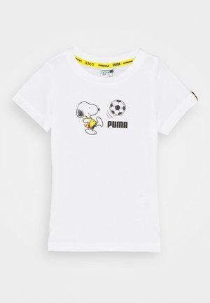 PEANUTS TEE UNISEX - Print T-shirt - white