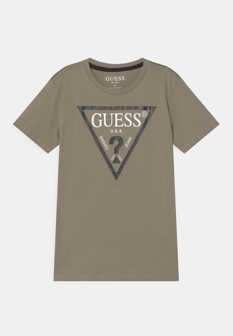 Guess - JUNIOR CORE - T-shirt con stampa - grunge green