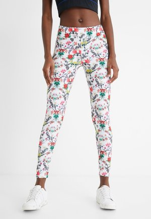 EDEN LONG - Pantalon en cuir - white