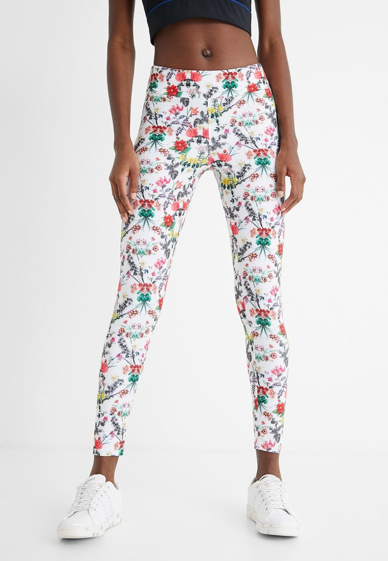 Desigual - EDEN LONG - Pantalon en cuir - white