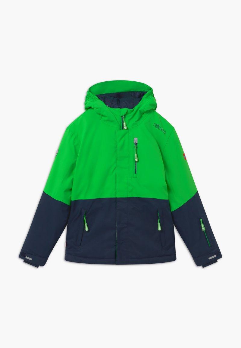 TrollKids - KIDS HALLINGDAL - Snowboard jacket - bright green/navy