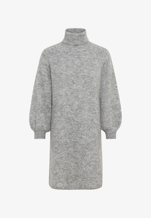 Jumper dress - hell silber-melange