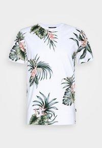 Jack & Jones - JPRHOLIDAY TEE CREW NECK - T-shirt med print - white - 4