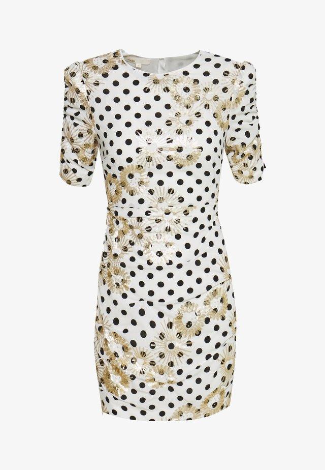 RAZULA - Sukienka etui - blanc/noir