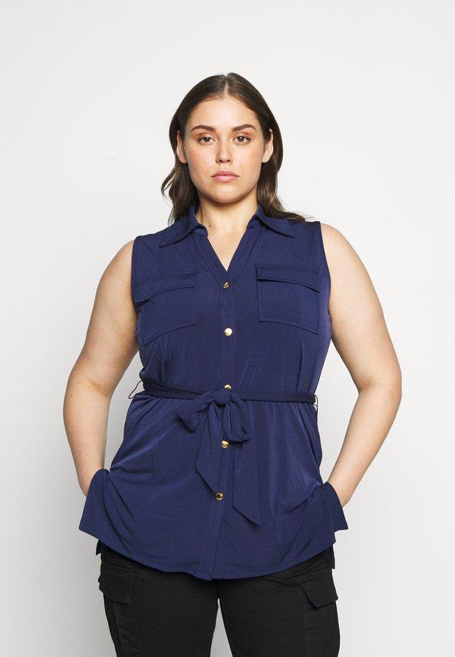 Button-down blouse - true navy