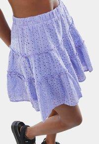 Bershka - SWISS - A-line skirt - mauve - 3