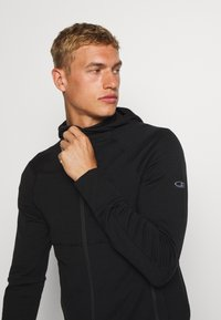 Icebreaker - MENS QUANTUM ZIP HOOD - Zip-up hoodie - black