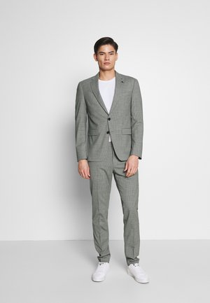 FLEX MINI CHECK SLIM FIT SUIT - Garnitur - grey