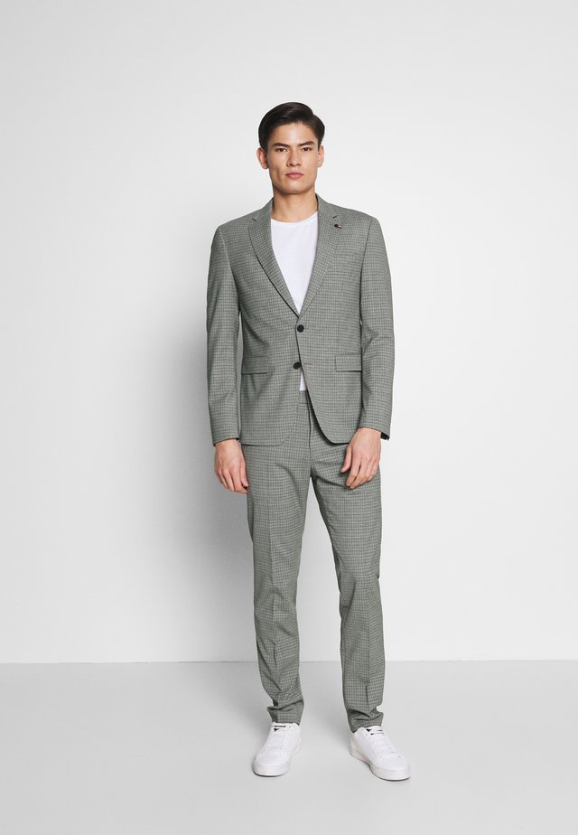 FLEX MINI CHECK SLIM FIT SUIT - Kostuum - grey