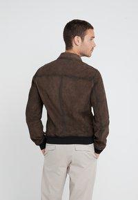 BOSS - JOAST - Leather jacket - brown - 2