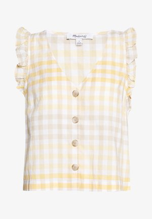 CAMILLA TANK HOOK UP IN GINGHAM - Blouse - gingham ombre pollen