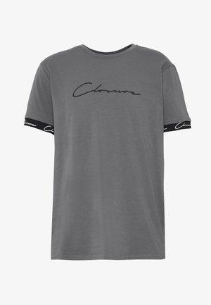 SCRIPT HIDDEN BAND TEE - T-shirt imprimé - grey
