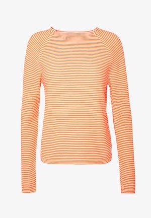 LONG SLEEVE SWEATER CREW NECK - Maglione - multi/flash orange