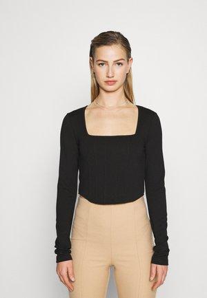 JASMIN AZIZAM CORSET - Long sleeved top - black