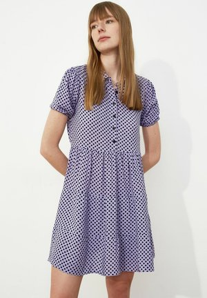 Shirt dress - purple