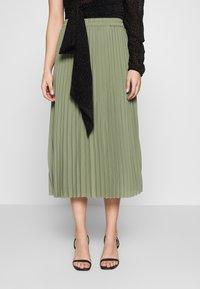 Selected Femme Petite - SLFJOSIE MIDI SKIRT PETITE - A-line skirt - oil green - 0