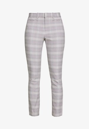 ANKLE  BISTRETCH - Trousers - grey plaid