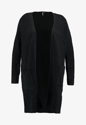 LONGLINE FISHERMAN CARDIGAN - Kardigan - black