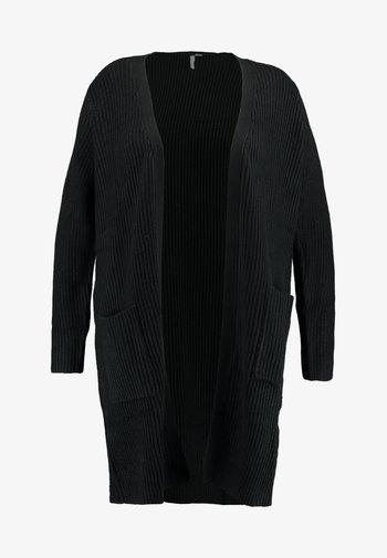 LONGLINE FISHERMAN CARDIGAN - Cardigan - black