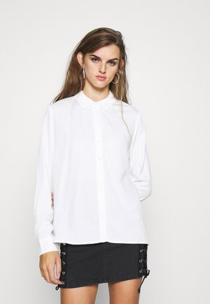 OBJBAYA - Button-down blouse - cloud dancer