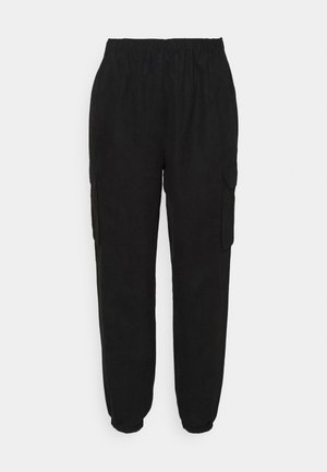WIDE LEG TROUSER - Cargo trousers - black